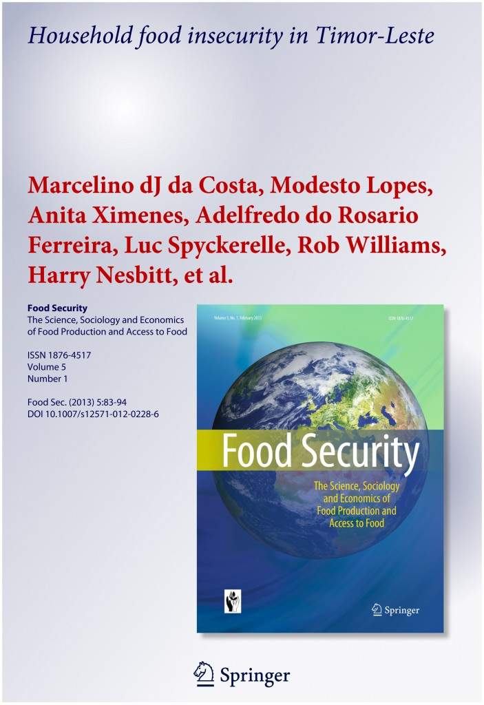 Household food insecurity in Timor-Leste-1 Cover