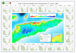 Rainfall map with graphs