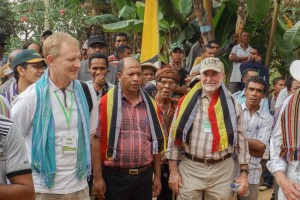 Seeds of Life Team Leader John Dalton at the FMNR Conference field visit in Aileu