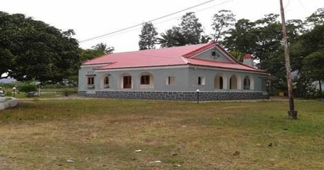 The old administrator's house in Same.  The original weather station was located just to the right of the building.  Seeds of Life have recently installed a weather station just behind this building.