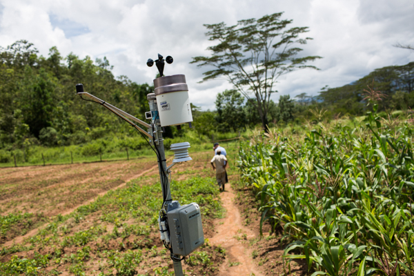 A MAF-SoL weather station at a research centre in Aileu © Conor Ashleigh/Seeds of Life