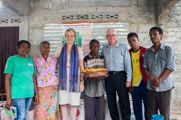 Minister Tanya Plibersek, visits Haburas Moris Rasik CSPG in suco Mota Ulun, Bazartete, Liquica © Yessy Betty/Seeds of Life
