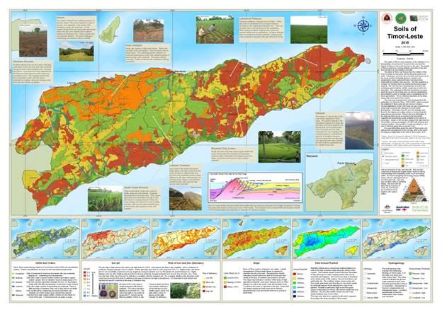 Mapa nasional ba rai ne'e sei hasai iha tempu badak hodi bele download no print
