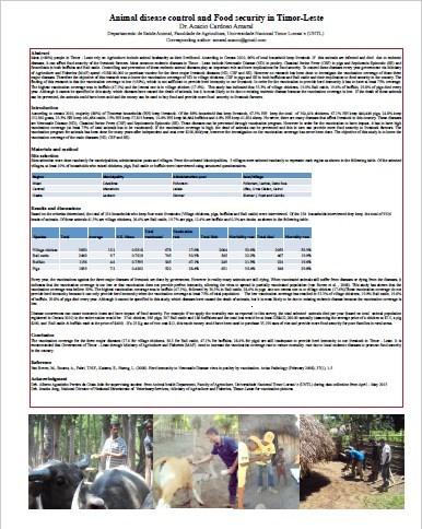 E14. Animal disease control